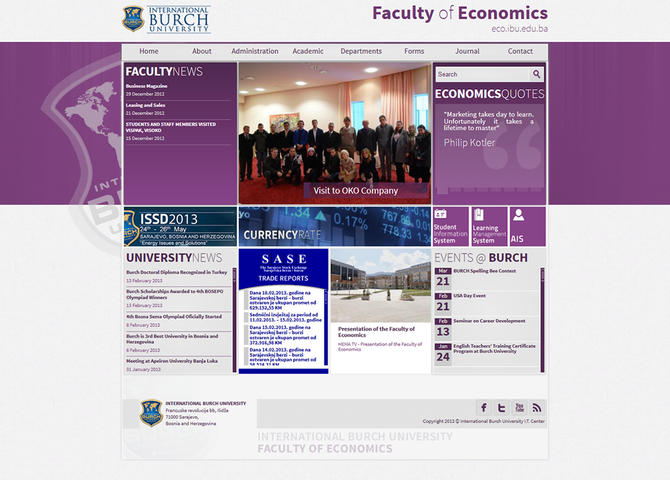 Faculty of Economics - International Burch University