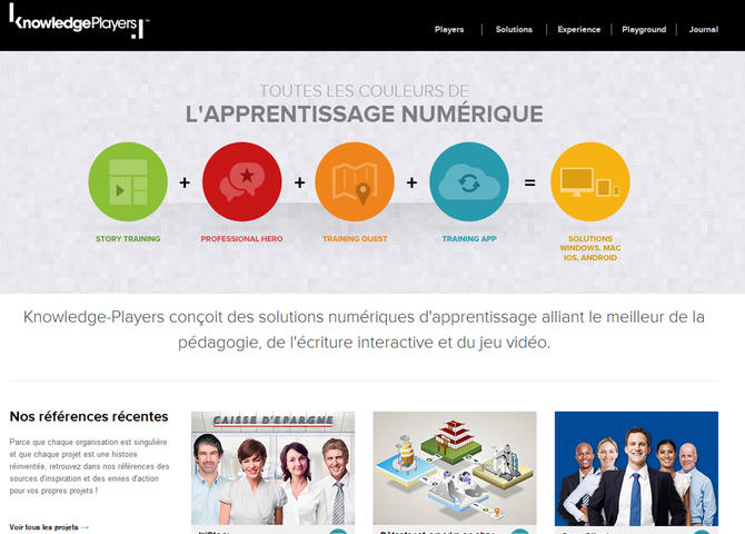 Knowledge Players apprentissage numérique