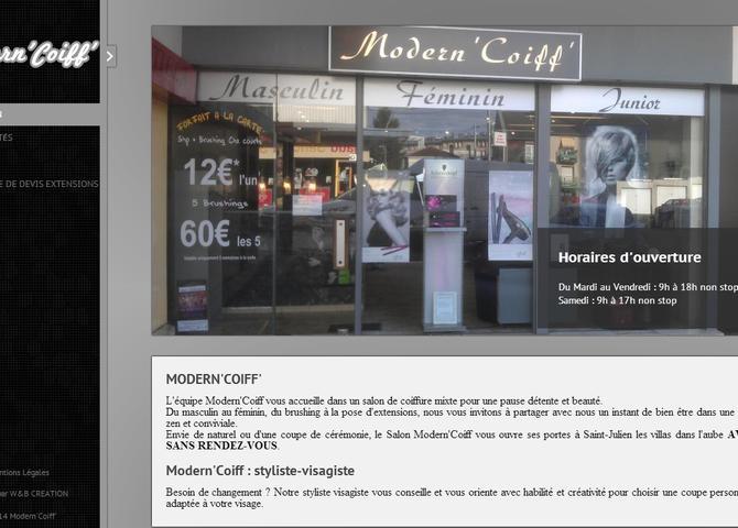 Modern'Coiff' : Salon de coiffure à Saint-Julien-les-Villas