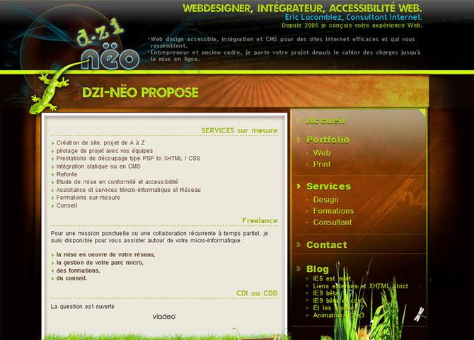 Dzi-nëo, Webdesigner, Intégrateur, accessibilité Web.