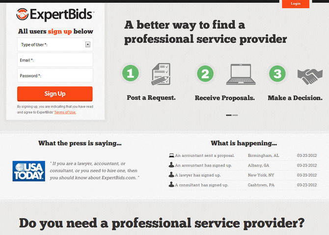 Get Proposals from Professional Service Providers | ExpertBids.com