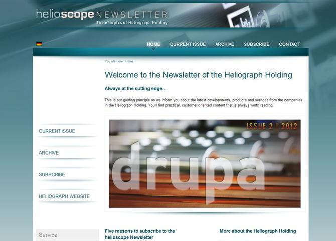 helioscope - Corporate Newsletter of Heliograph Holding