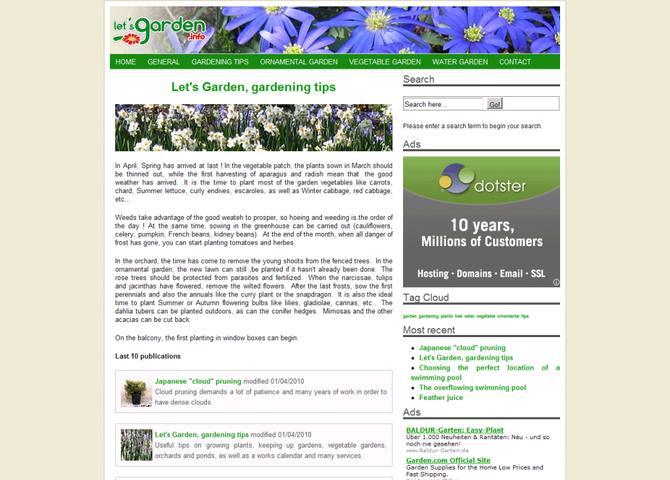 Let's Garden, gardening tips