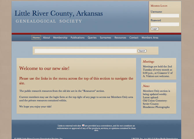 Little River County, Arkansas, Genealogical Society