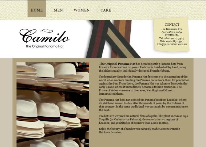 Camilo: The Original Panama Hat