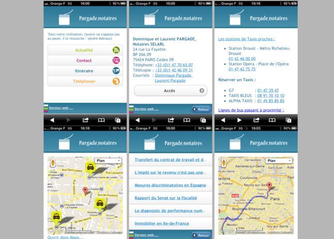 Pargade Notary Mobile Website