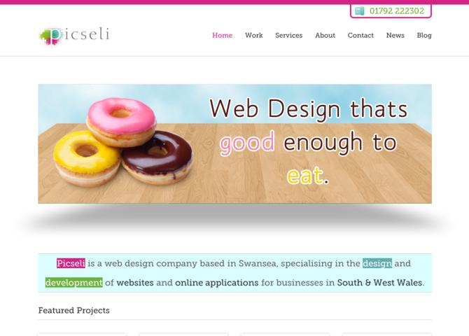 Picseli Web Design and Website Development in Swansea and South Wales