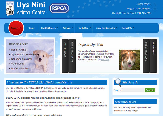 RSPCA Llys Nini Animal Centre