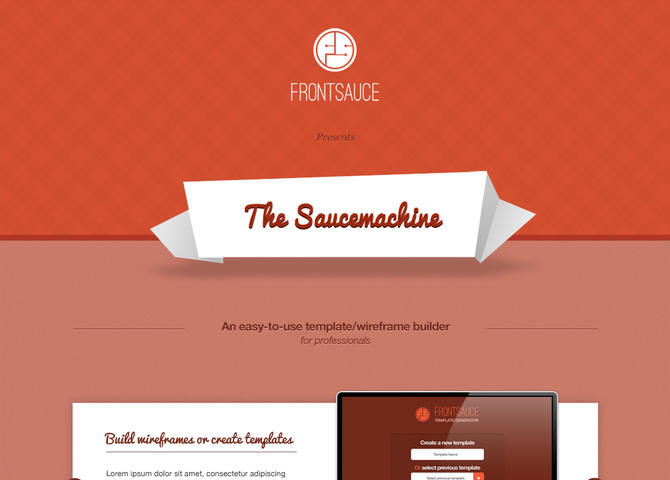 The Saucemachine | Create Wireframes with ease
