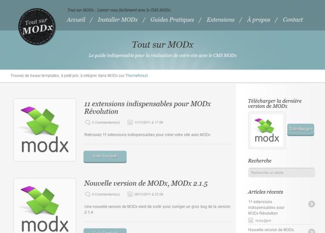 Tout sur MODx