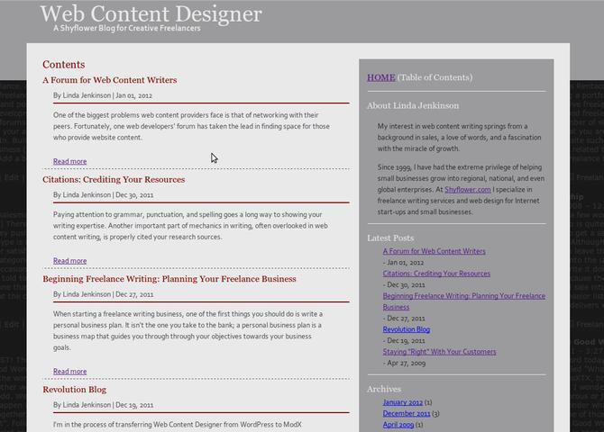 Web Content Designer