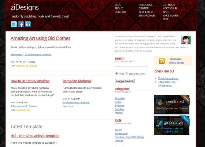 ziDesigns - Zaigham's Web
