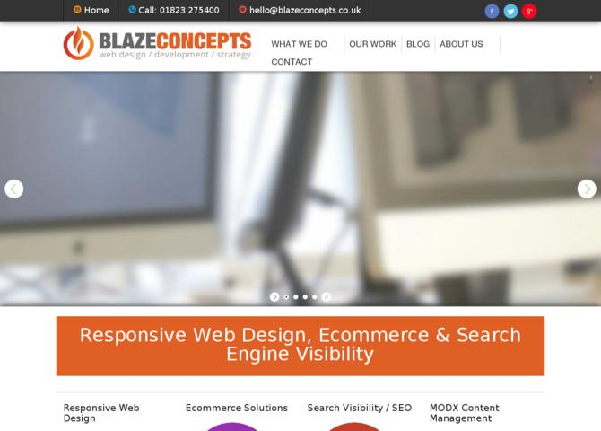 Blaze Concepts - Somerset Web Design